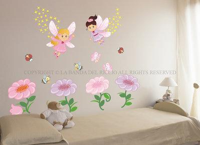 Le Fate dei Fiori adesivi da muro per la camera dei tuoi bambini
