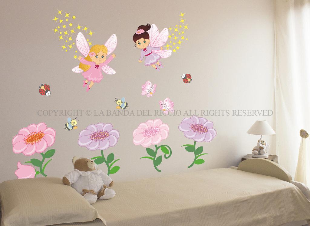 Le fate dei fiori adesivi da muro per la camera dei tuoi - Adesivi per cameretta bambini ...