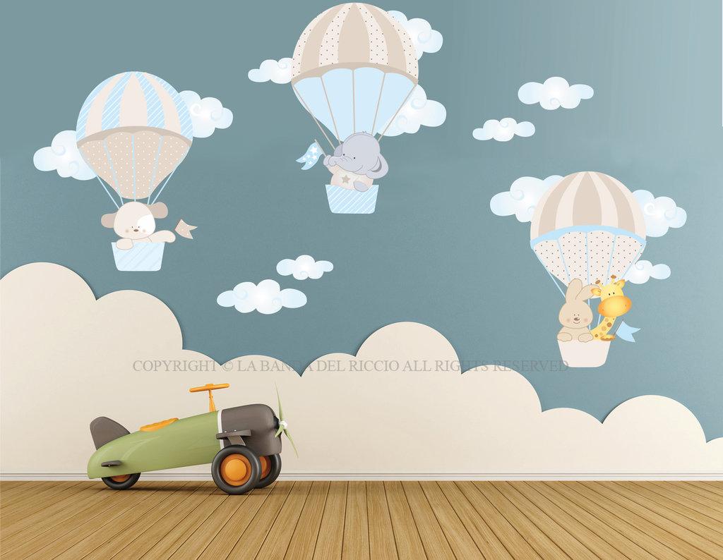 Adesivi Da Parete Per Bambini.Le Mongolfiere Adesivi Murali Per Bambini