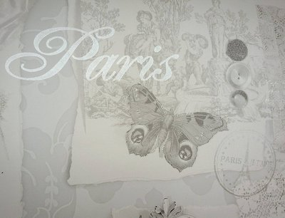 "5 metri di carta decorativa ""Paris"" per pareti, porte, mobili, decoupage"
