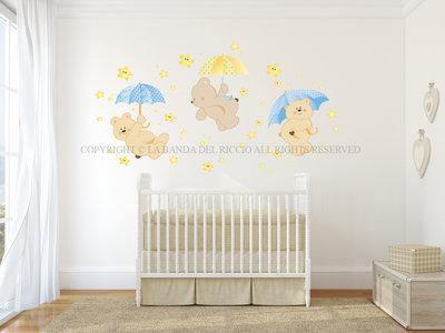 Pioggia di Stelle Adesivi Murali per Bambini con stelle fluo
