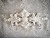 Fregio #11 in pasta di legno decorativo per mobili