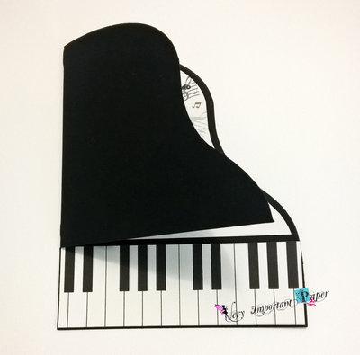Partecipazione matrimonio a tema musica - invito nozze pianoforte
