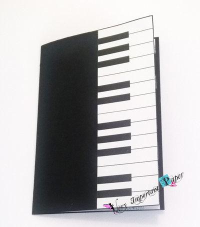 Partecipazione matrimonio tema musica - biglietto pianoforte