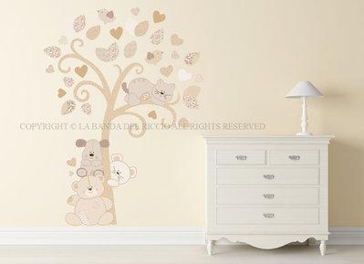 Albero dei Cuccioli Adesivi murali