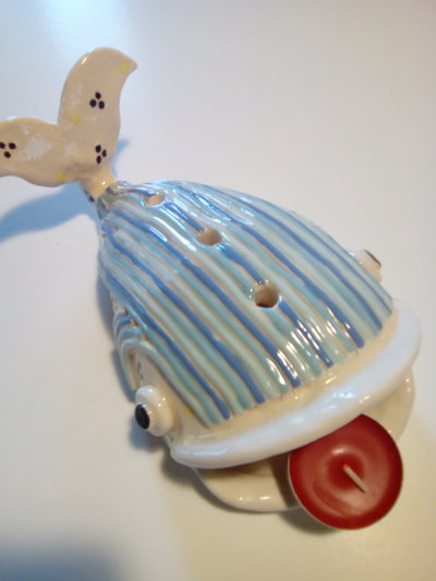 Porta tea light - Balena