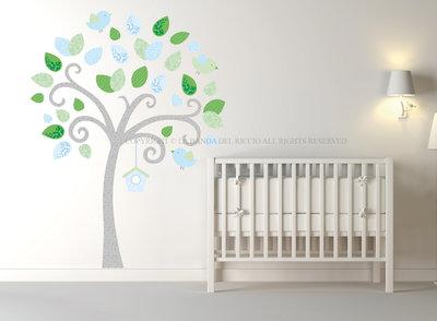 Albero con Uccellini adesivo da muro per decorare la tua casa