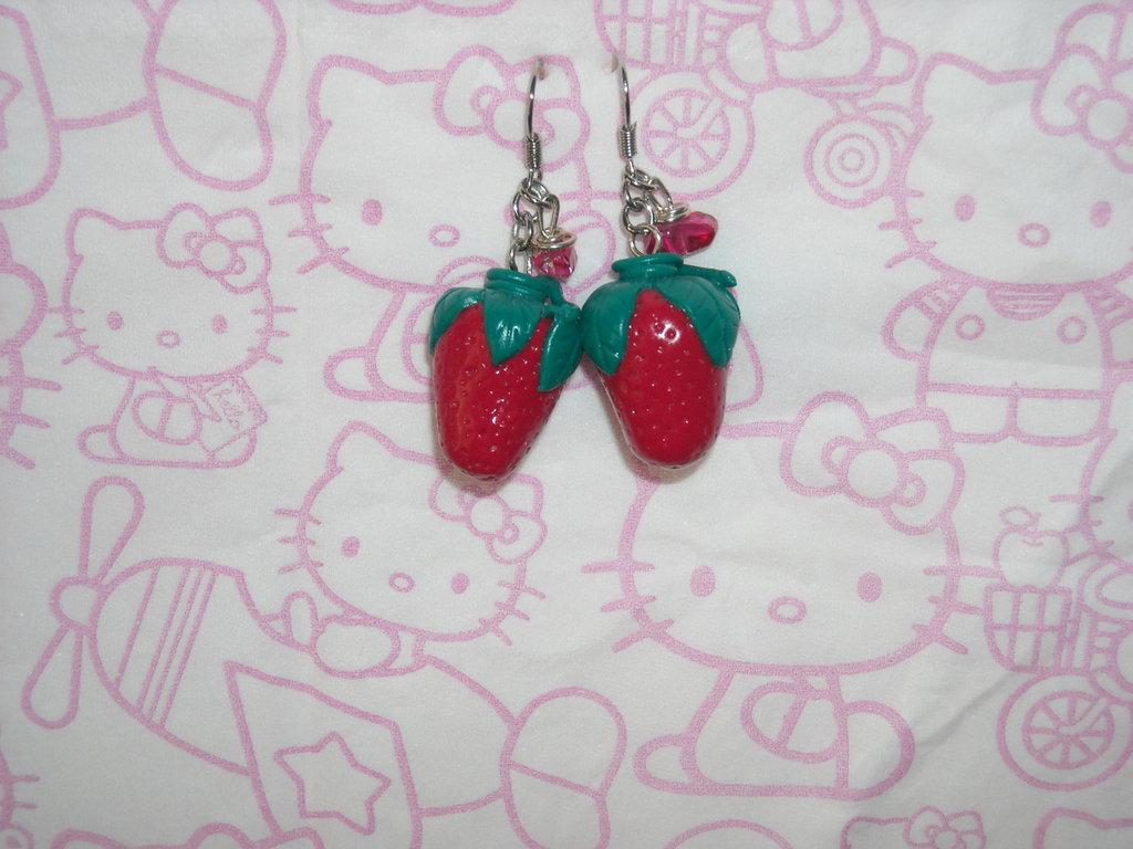 orecchini fragole