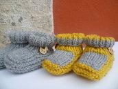 scarpette neonato ,coppia o singole,dai colori moderni e simpatici