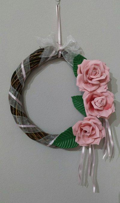 romantica ghirlanda di rose