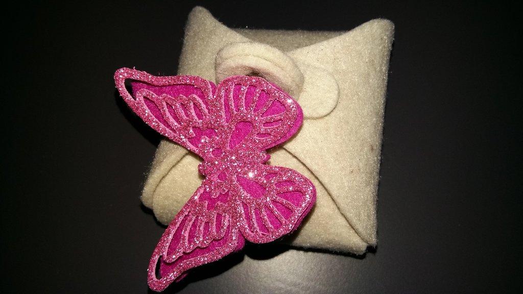 bomboniera feltro farfalla