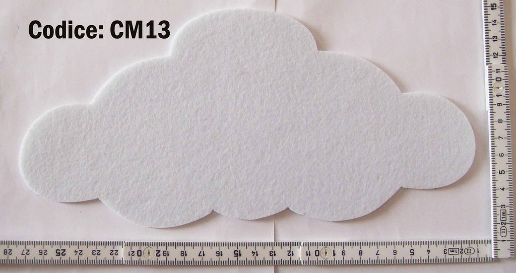 Fustellato Feltro Nuvola CM13