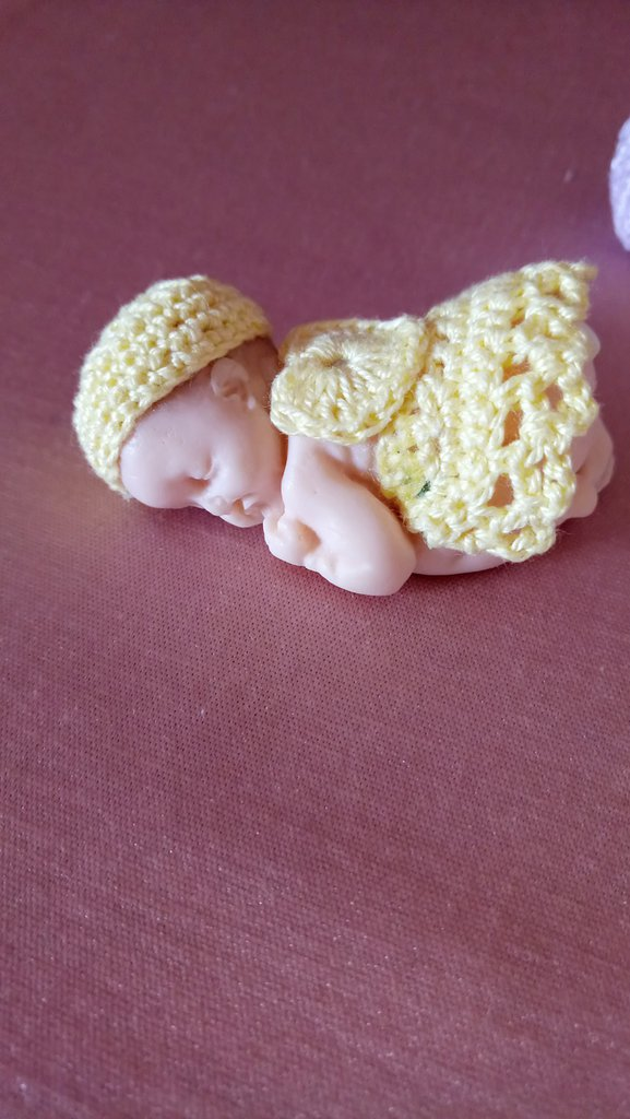 Bimbo neonato in fimo