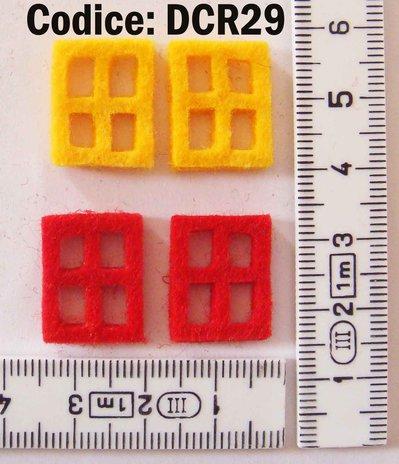 Fustellato Feltro Finestre piccole DCR29