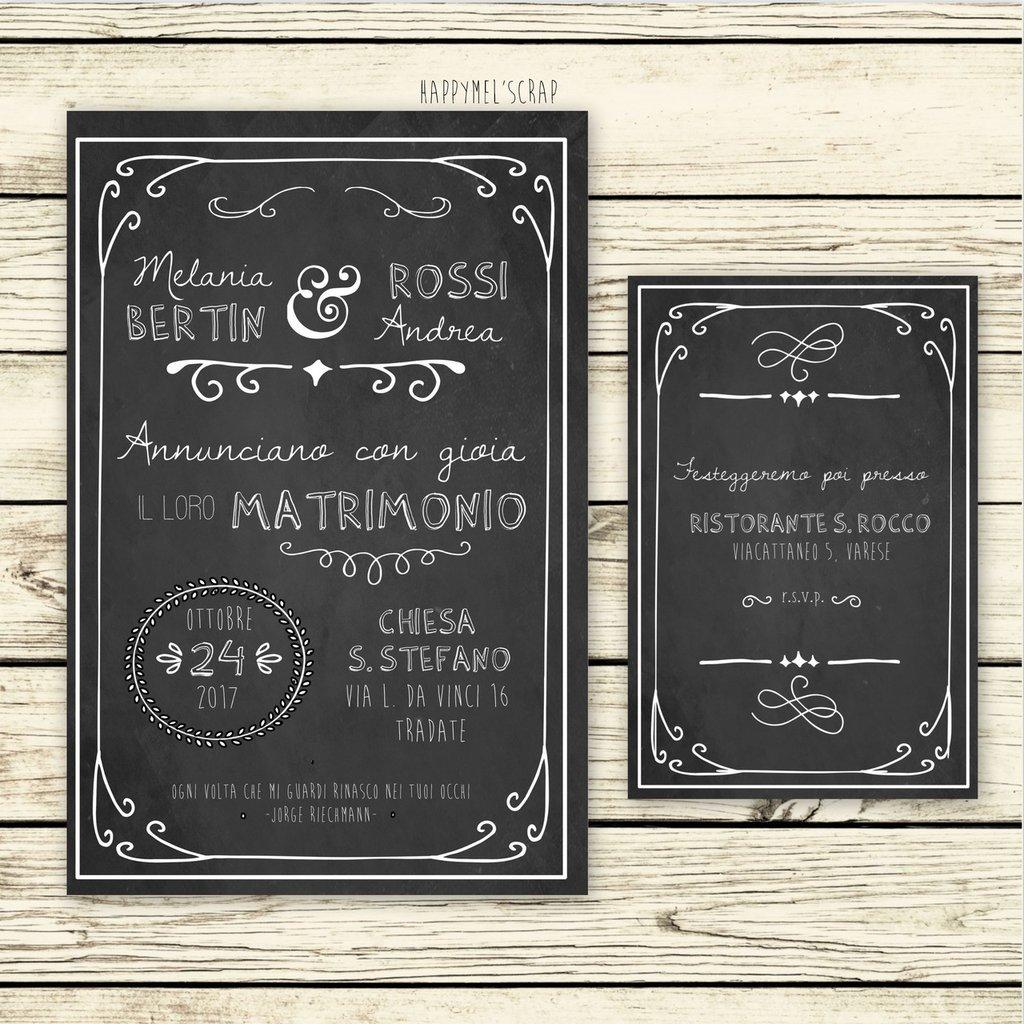 """Partecipazione di nozze """"Blackboard Two"""""""