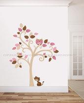 L' Albero del Gatto adesivo da muro per decorare la tua casa