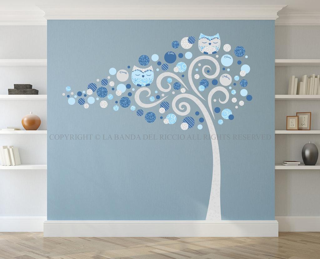 Albero family adesivo da muro per decorare la tua casa - Decorare un muro ...