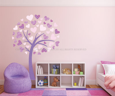 Albero Cuore adesivo da muro per decorare la tua casa
