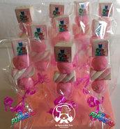 Spiedini in Marshmallow SUPER PIGIAMINI BIMBA_Personalizzati_NOME ANNI_PJ MASKS