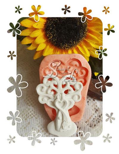 Stampo *Albero della vita coppia con piccolo cuore centrale per sposi/anniversario*