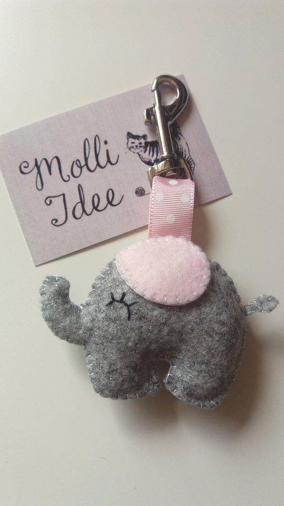 Portachiavi elefantino per Neo-mamma