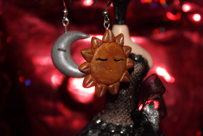 orecchini sole luna