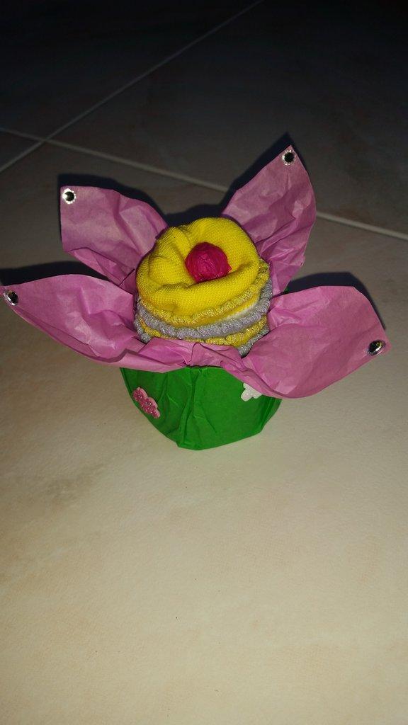 Cupcake con calzine baby