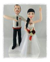 Cake topper sposi personalizzati dj e ballerina