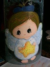 tegola in vetro con angelo