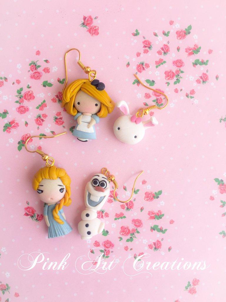 Pendenti Alice e Elsa