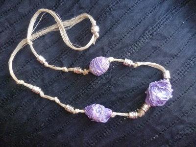 collana in carta,pezzo unico,handmade