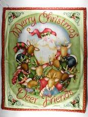 copertina o copri fasciatoio natalizio, in stile country .