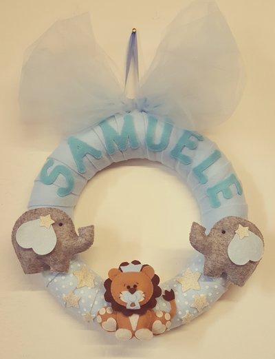 Ghirlanda nascita Samuele