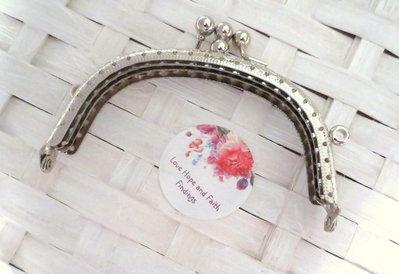 1 Chiusura in ottone rodiato borse/portamonete (110X80 mm)