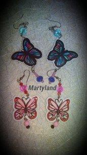 Orecchini farfalla handmade