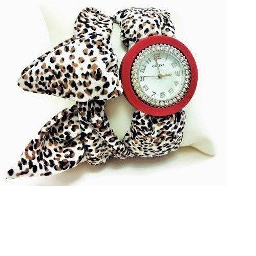 Orologio da polso a fascia di silicone bordeaux da donna- Regalo particolare per amica