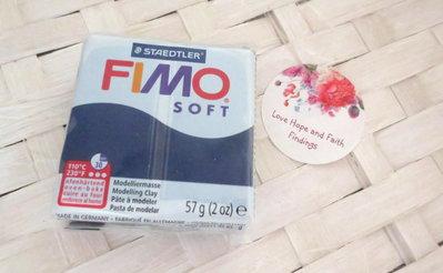 NUOVI ARRIVI! 1 panetto FIMO SOFT color WINDSOR BLUE n° 35 (57 gr)