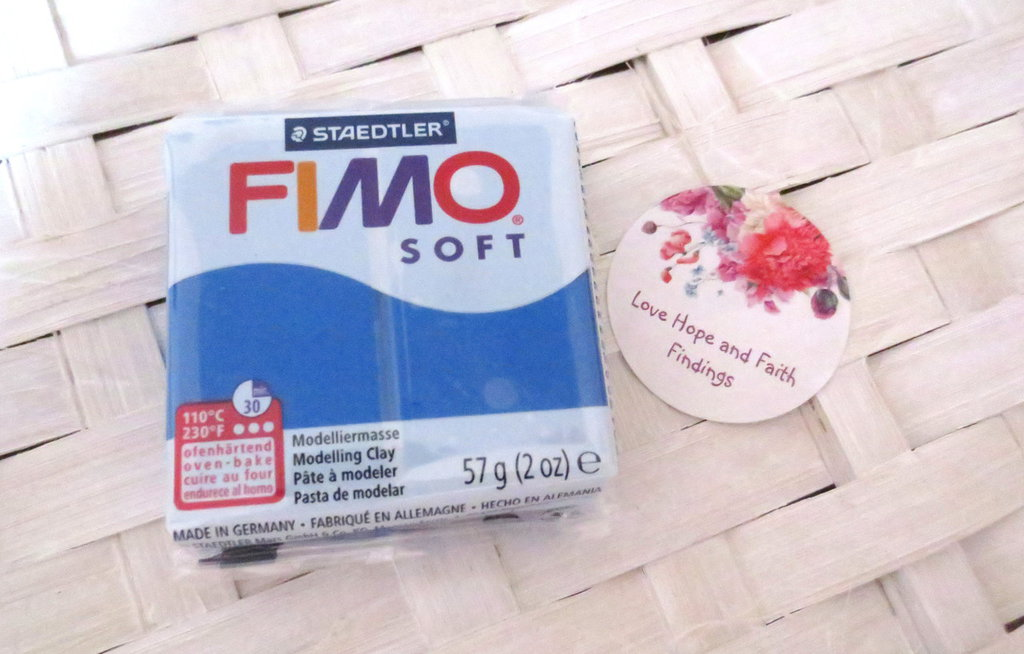 NUOVI ARRIVI! 1 panetto FIMO SOFT color PACIFIC BLUE n° 37 (57 gr)