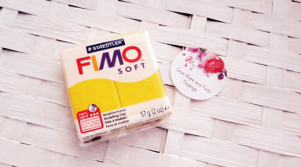 NUOVI ARRIVI! 1 panetto FIMO SOFT color GIRASOLE n° 16 (57 gr)