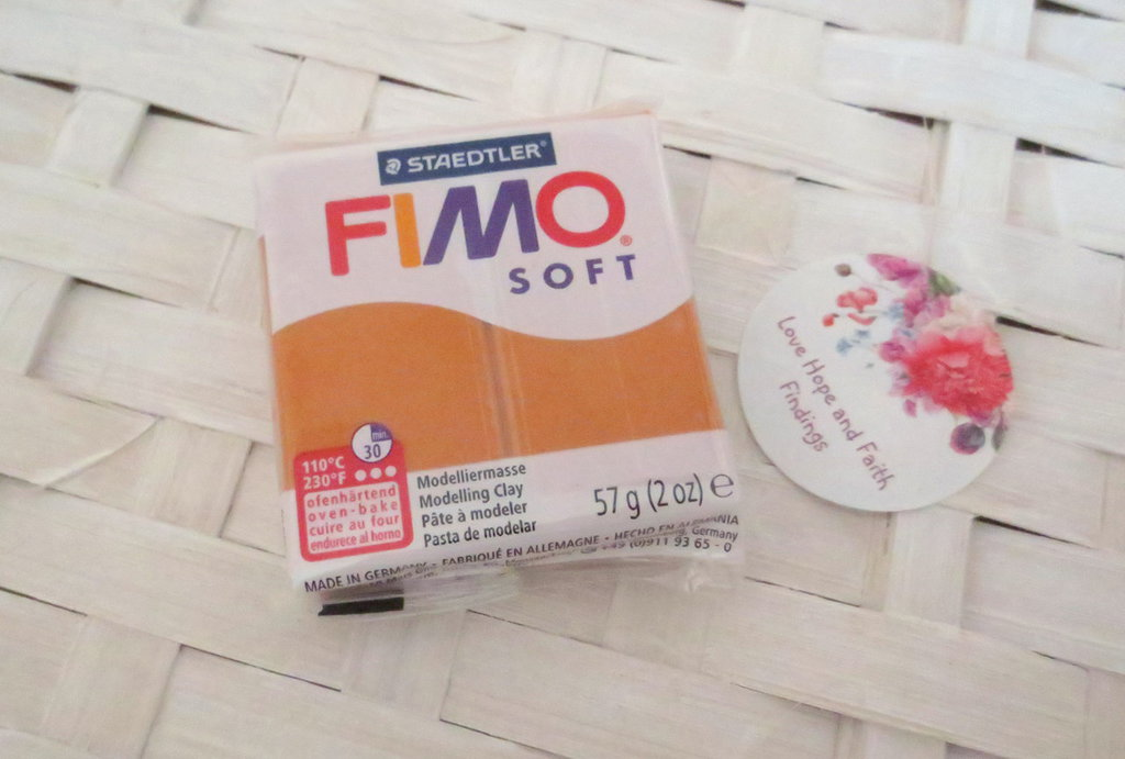 NUOVI ARRIVI! 1 panetto FIMO SOFT color COGNAC  n° 76 (57 gr)