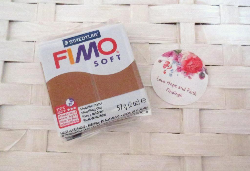 NUOVI ARRIVI! 1 panetto FIMO SOFT color CARAMELLO n° 7  (57 gr)