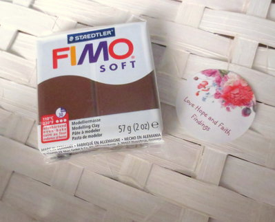 NUOVI ARRIVI! 1 panetto FIMO SOFT color CIOCCOLATO n° 75  (57 gr)