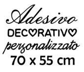 Il tuo adesivo personalizzato 70x55 cm
