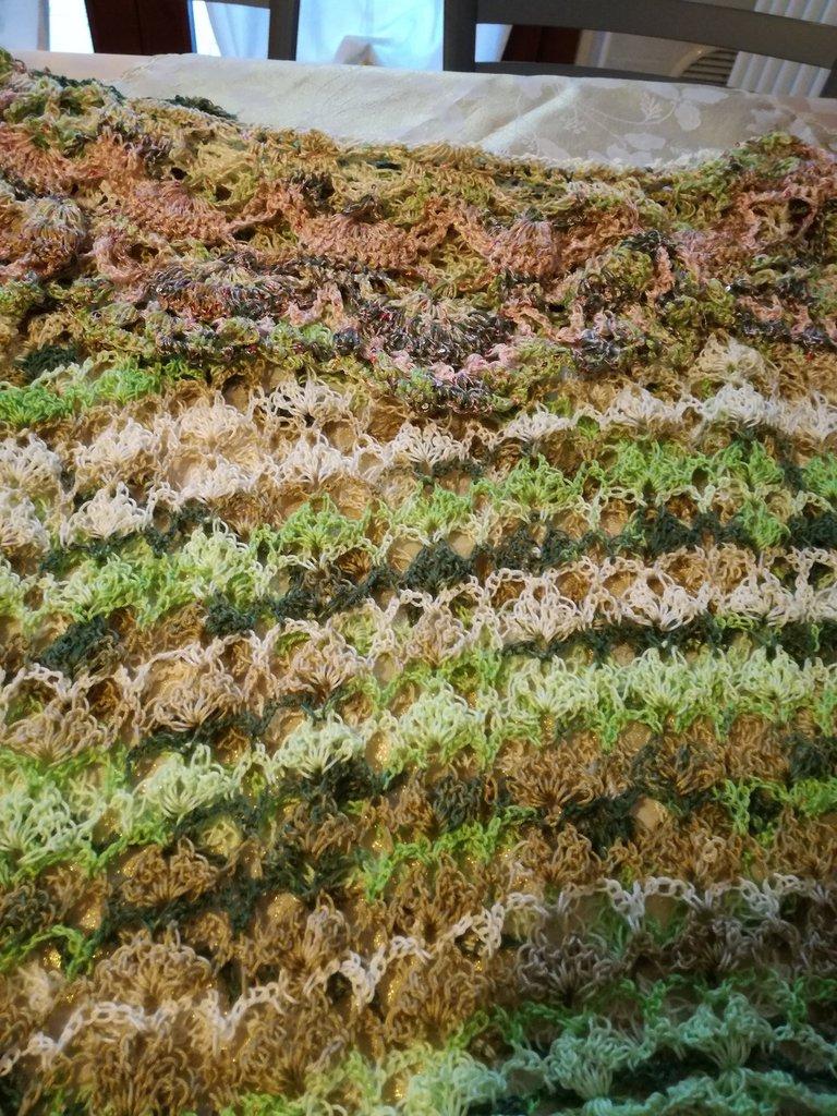 Maglietta all'uncinetto, colore verde