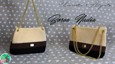 "Borsa ""Nadia"" - borsa elegante con occhielli"