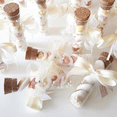 Provetta 10cm - Provette matrimonio - bomboniere vetro - segnaposto matrimonio - bomboniere comunione -bomboniere cresima - confettata - tema mare