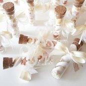 Provette matrimonio - bomboniere vetro - segnaposto matrimonio - bomboniere comunione -bomboniere cresima - confettata - tema mare