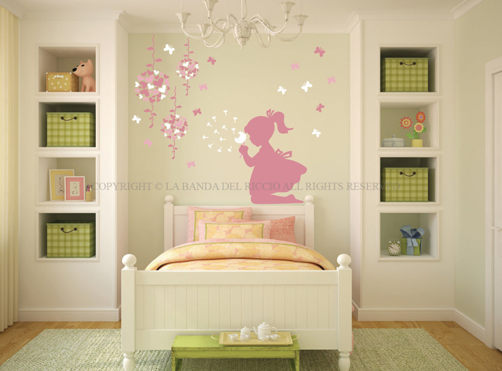 Farfalle e soffioni adesivi da muro per la camera dei tuoi for Adesivi per muro