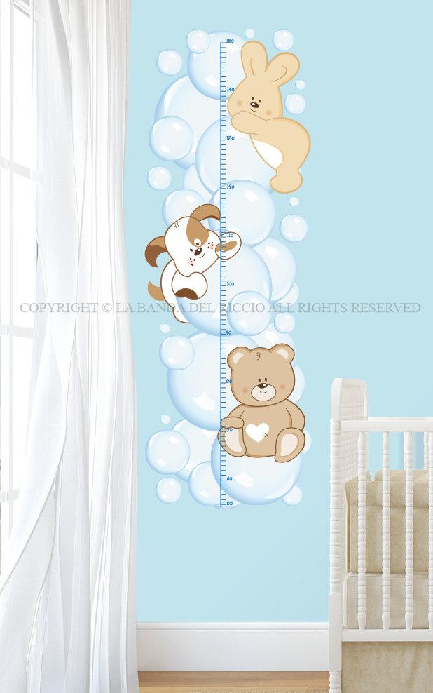 Il Metro Bolle di Sapone adesivi da muro per la camera dei tuoi bambini