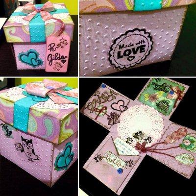 Explosion Box/ Biglietto-scatola esplosiva_ compleanno